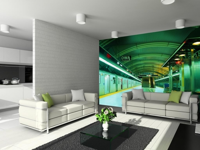 Wonderful Removable Wall Murals Room Idea Setting Subway Pic