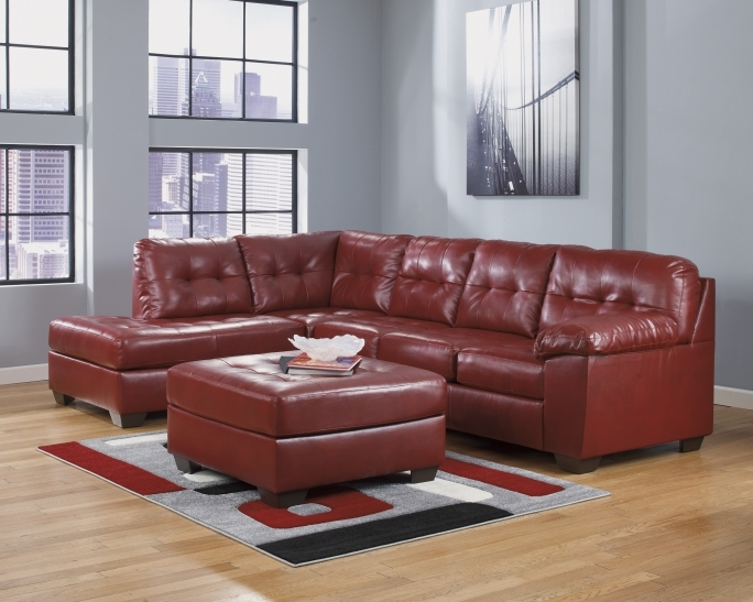 Ashley Furniture Sectional Sofas Red With Casement Window For Small Living Room Picture