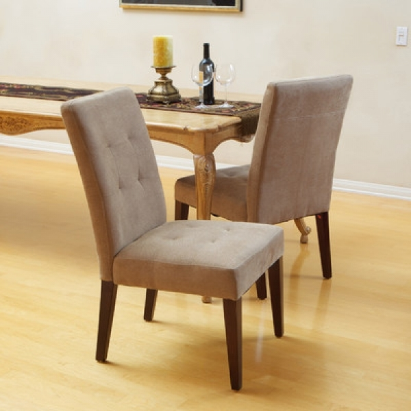 Brown Leather Dining Chair Talib Tufted Ideas Picture