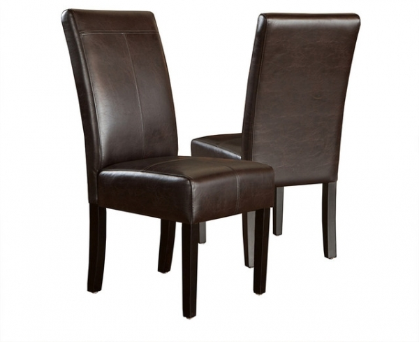 Brown Leather Dining Chairs Furniture Decoration Ideas Images