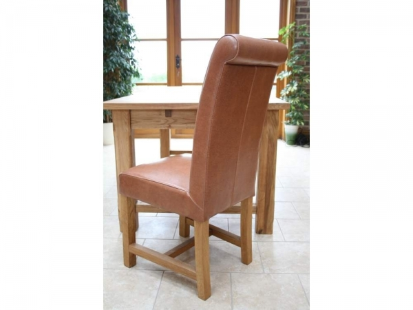Brown Leather Dining Chairs Titanc Titan Scroll Back Mocha Pictures