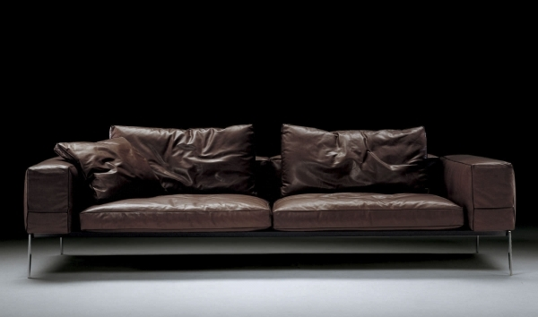 Contemporary Leather Sofa|Contemporary Leather Sofa|Contemporary Leather Sofas|Modern Leather Sofas| Briliant For Dark Room With Brown Color Ideas 49