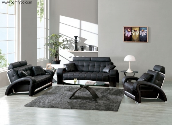 Contemporary Leather Sofa|Contemporary Leather Sofa|Contemporary Leather Sofas|Modern Leather Sofas| Living Room Design Couches Black Faux Leather Cool Furniture Ideas 79