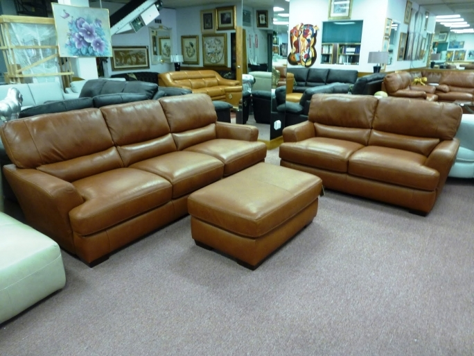 Natuzzi Leather Sectional B746 Cognac Picture