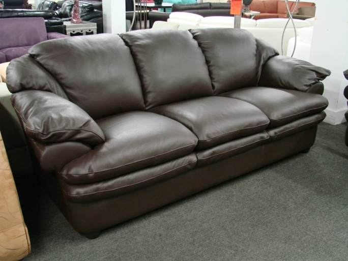 Natuzzi Leather Sofa Furniture Black Upholstery Pic