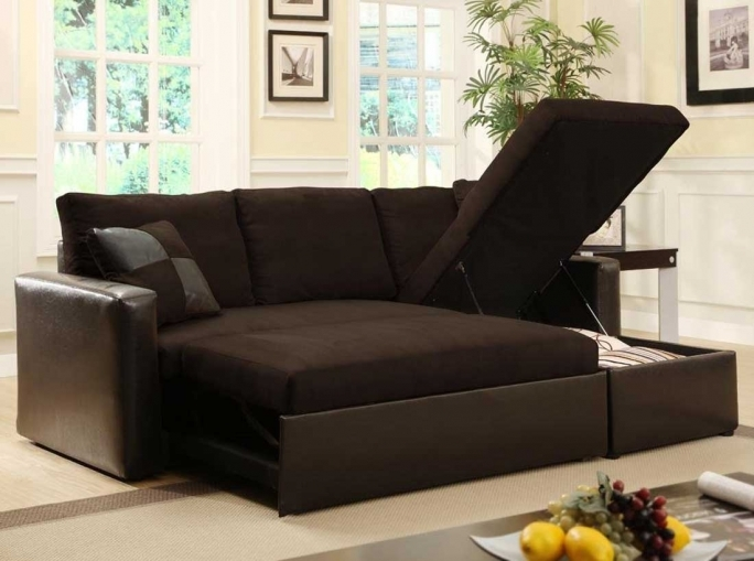 Pull Out Couch Bed With Storage Design Photo