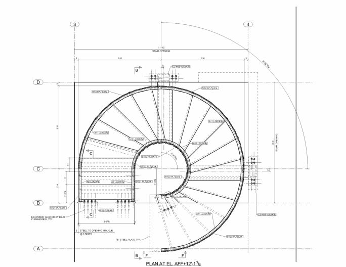 Spiral Staircase Dimensions Affordable Curved Stairs Elevation  Pictures