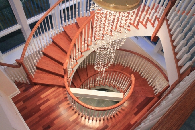 Spiral Staircase Dimensions Design Plus Deck With The Combination Pictures