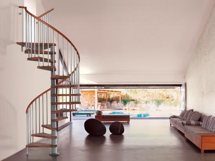Spiral Staircase Dimensions Indoor Stairs Design Pic