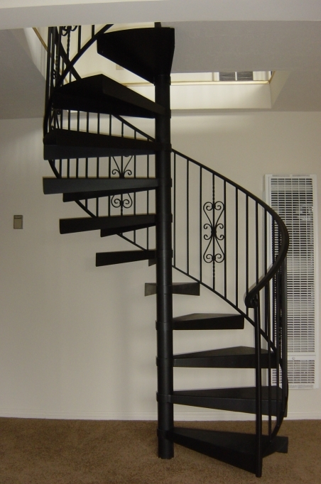 Spiral Staircase Dimensions Simple Design Small Interior Design Black Color Scheme Images