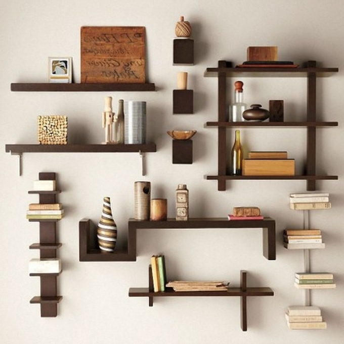 Bookshelf Decorating Ideas Creative Diy Wall Shelves Unique Wall Decor Images