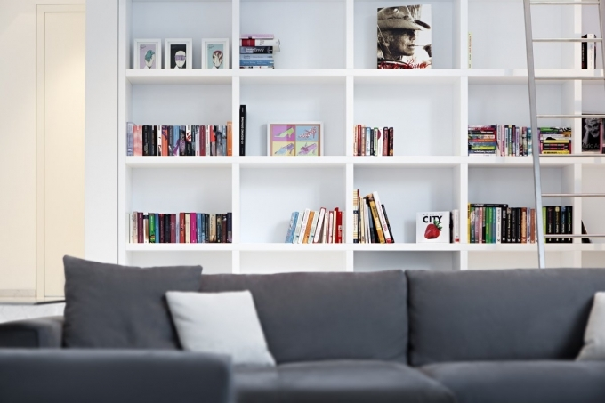 Bookshelf Decorating Ideas Modern Wall Bookshelves Living Room Interior Design Image