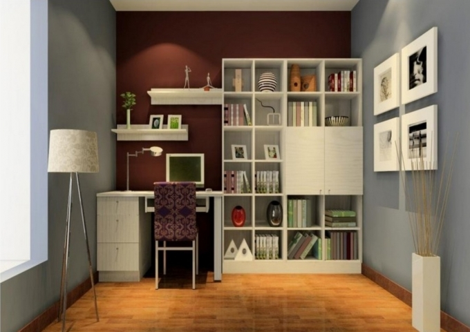 Bookshelf Decorating Ideas Unique Design Home Interior Furniture And Brown Wall Chic Image