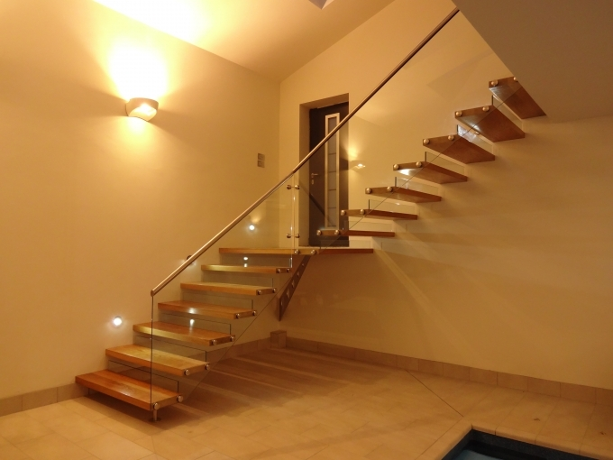 Floating Stair Case With Boss Fixed Glass And Stainless Steel Regarding Oak Floating Staircase Pics