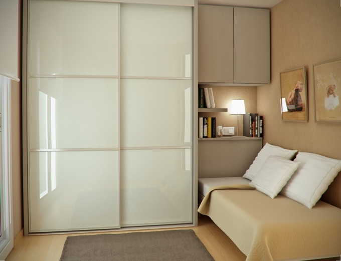 How To Decorate Small Bedroom Simple Design On Budget With Wardrobe Sliding Door Picture