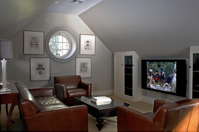 Media Room Furniture Ideas Decorating Design With Grey Wall 02