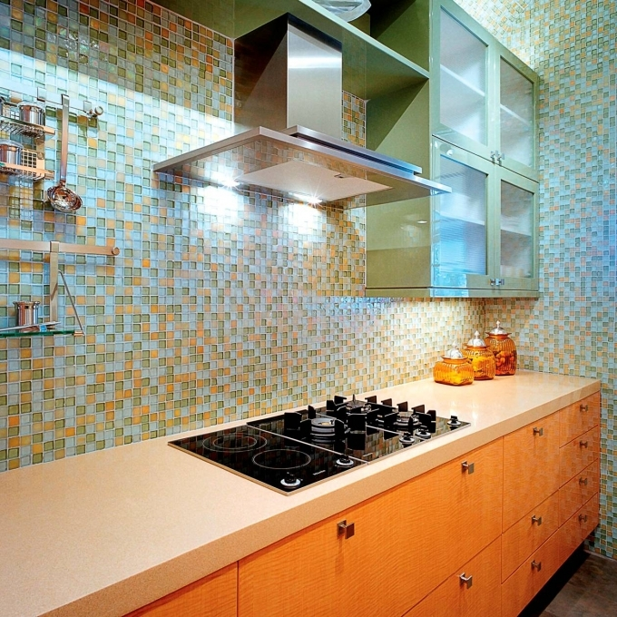 Oceanside Glass Tile Design Ideas