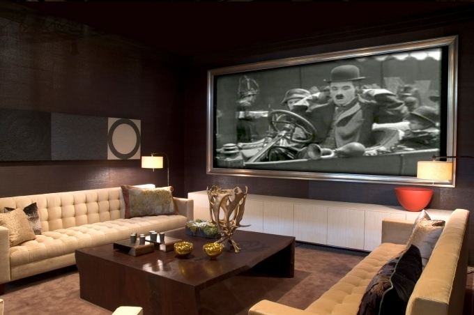 Small Media Room Design Ideas Modern Interior Design With Cream Sofa And Wooden Coffee Table 40
