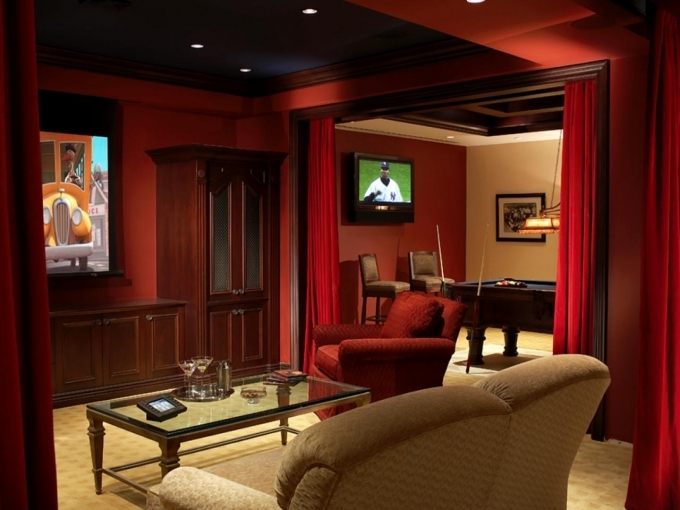 Small Media Room Ideas Home Theater Minimalist Design 68