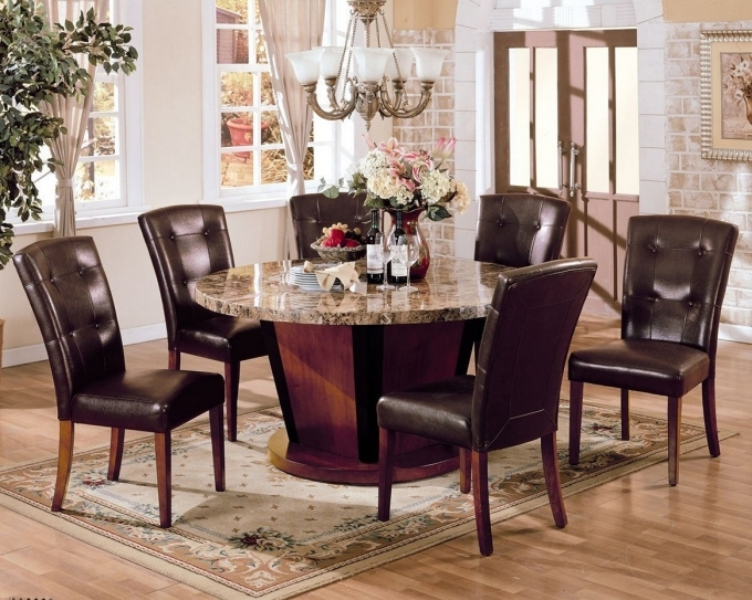 Vintage Brown Leather Dining Chairs Design Ideas