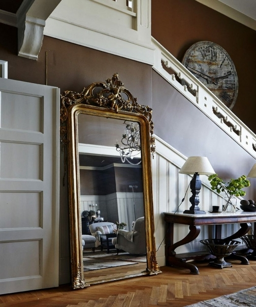 Mirrored Hallway Furniture French Antique Mirror In A Hallway Image