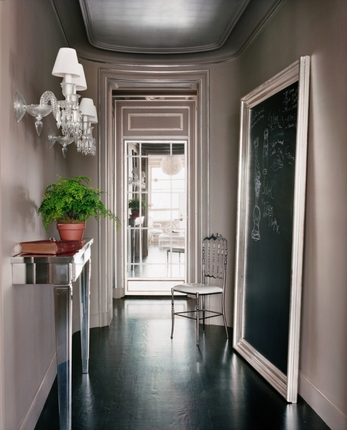 Mirrored Hallway Furniture Glamorous Demilune Table In Entry Contemporary With Hallway Mirror Images