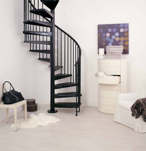 Spiral Staircase Kits  Contemporary Ideas CIVIK Black Pic