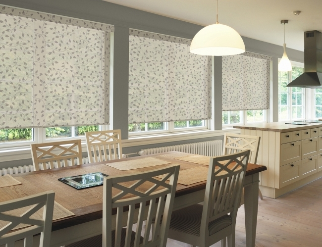 Adorable Contemporary Window Treatments For Bay Windows Comfortable Design With Dining Table Image