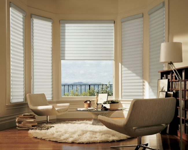 Captivating Contemporary Window Treatments For Bay Windows Very Cozy Ideas Images