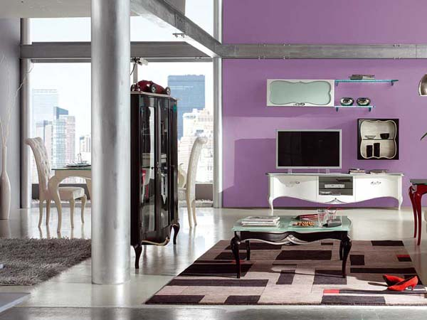 Stylish Best Interior Painting Ideas with Colorful Wall Apartment Design
