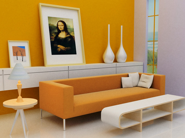 Yellow Interior Wall Painting Ideas For Living Room Nice for Small Space Image 012
