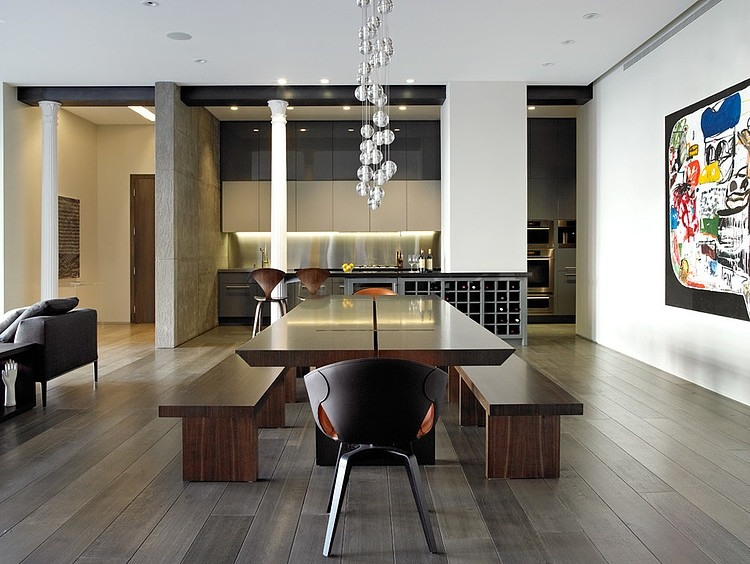 Contemporary Loft Dining Room Tables