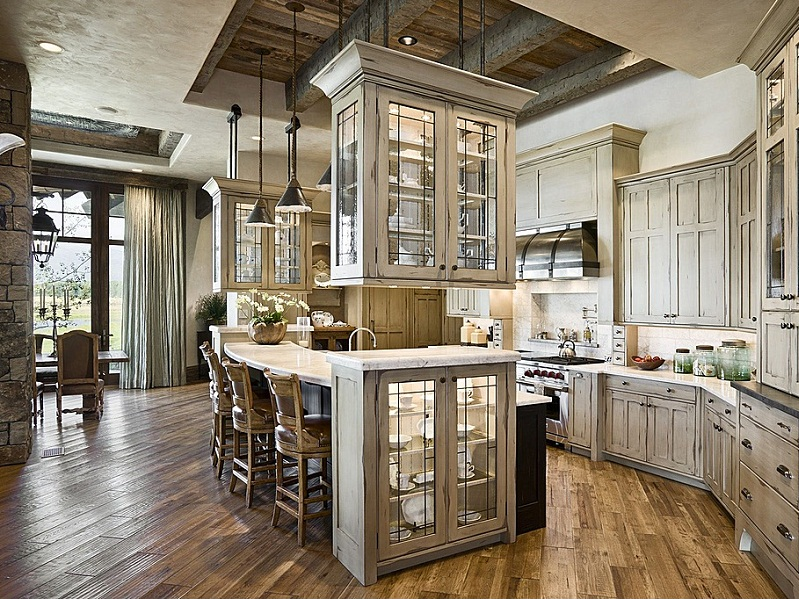 Custom Luxury Kitchen Designs With Floating Kitchen Cabinets