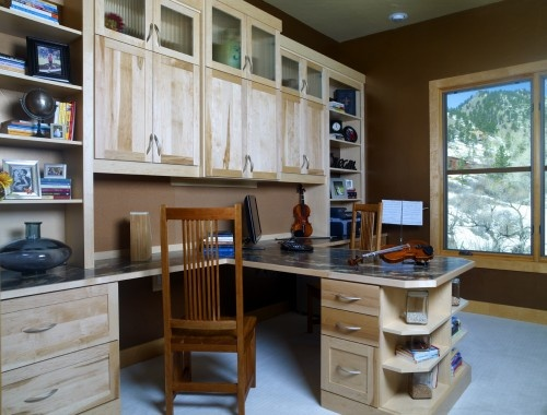 T-Shaped Home Office Desk For Two Person