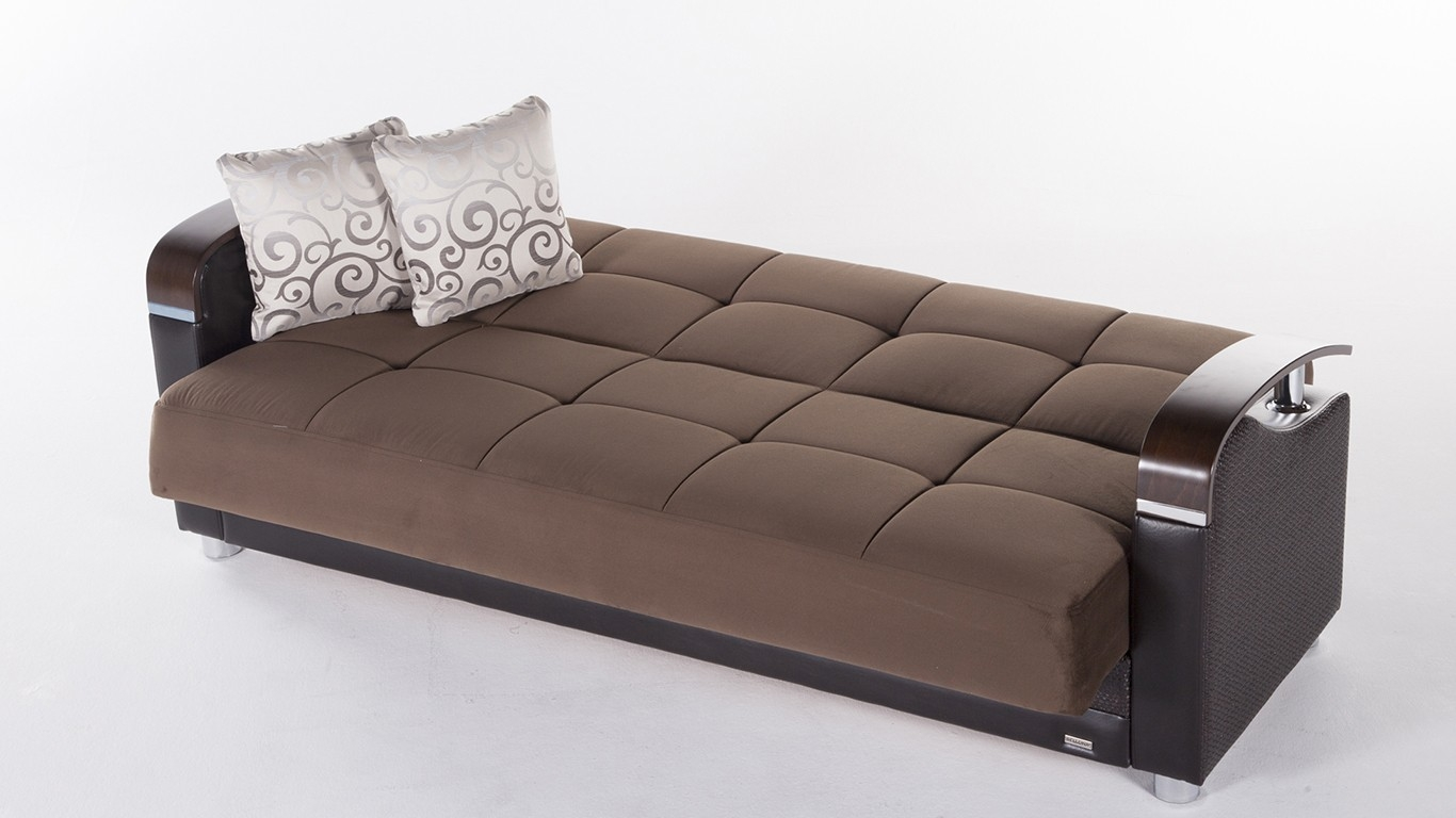 Awesome Sofa Sleeper With Storage Throughout Modern Brown Luna Sofa Bed