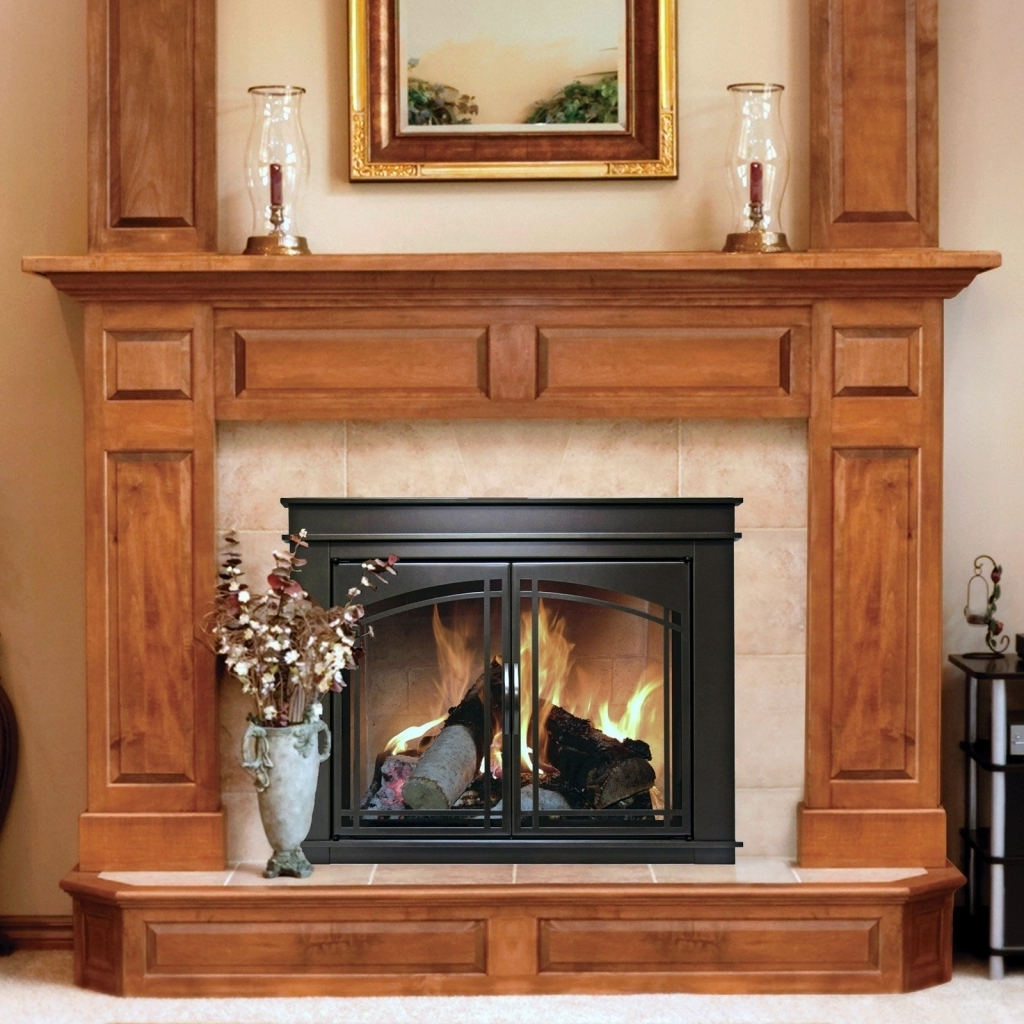 Comfy Stoll Fireplace Doors With Bronze Fireplace Screens Pleasant Hearth Pictures