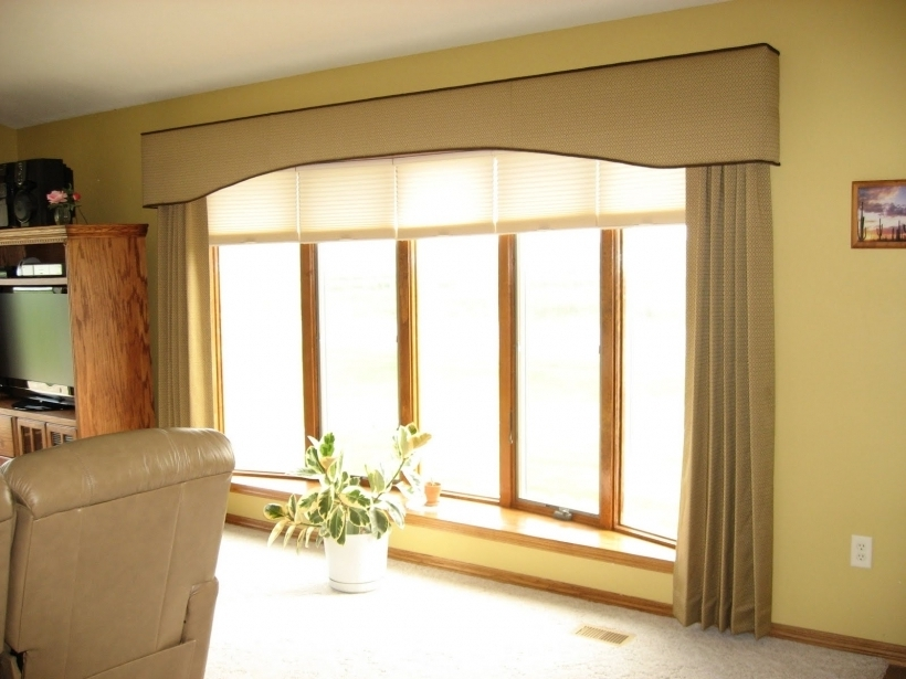 Cozy Cornices For Windows Boards And Glass Window Also Beige Curtains Photos