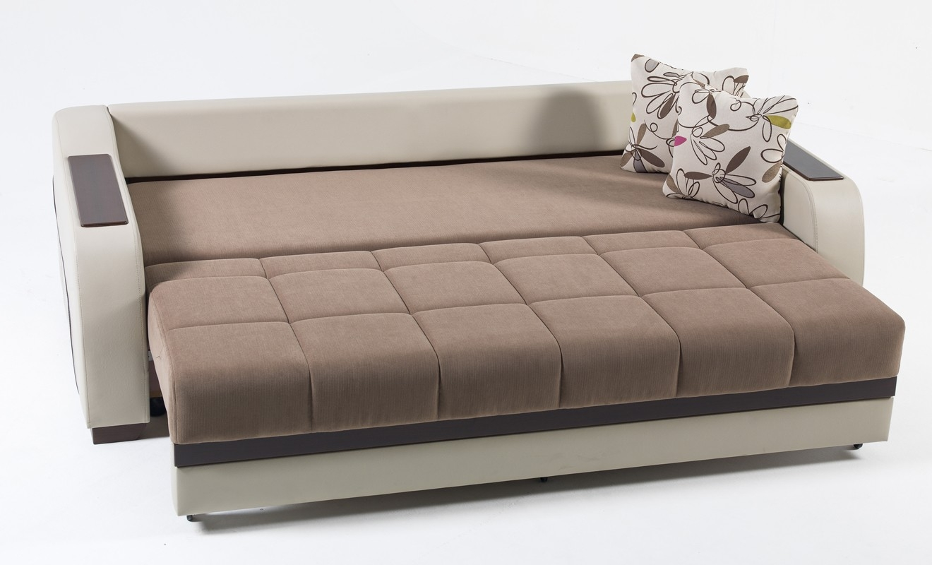 Cozy Sofa Sleeper With Storage Intended For Ultra Optimum Brown Bed Sofa