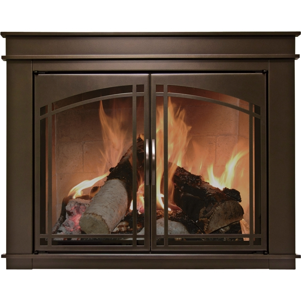 Cozy Stoll Fireplace Doors With Pleasant Hearth Fireplace Screens Photos