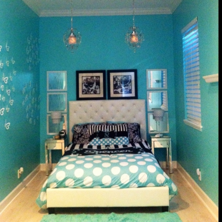 Cozy Tiffany Blue Paint Color Throughout Girls Bedroom Bedroom Pinterest Photo