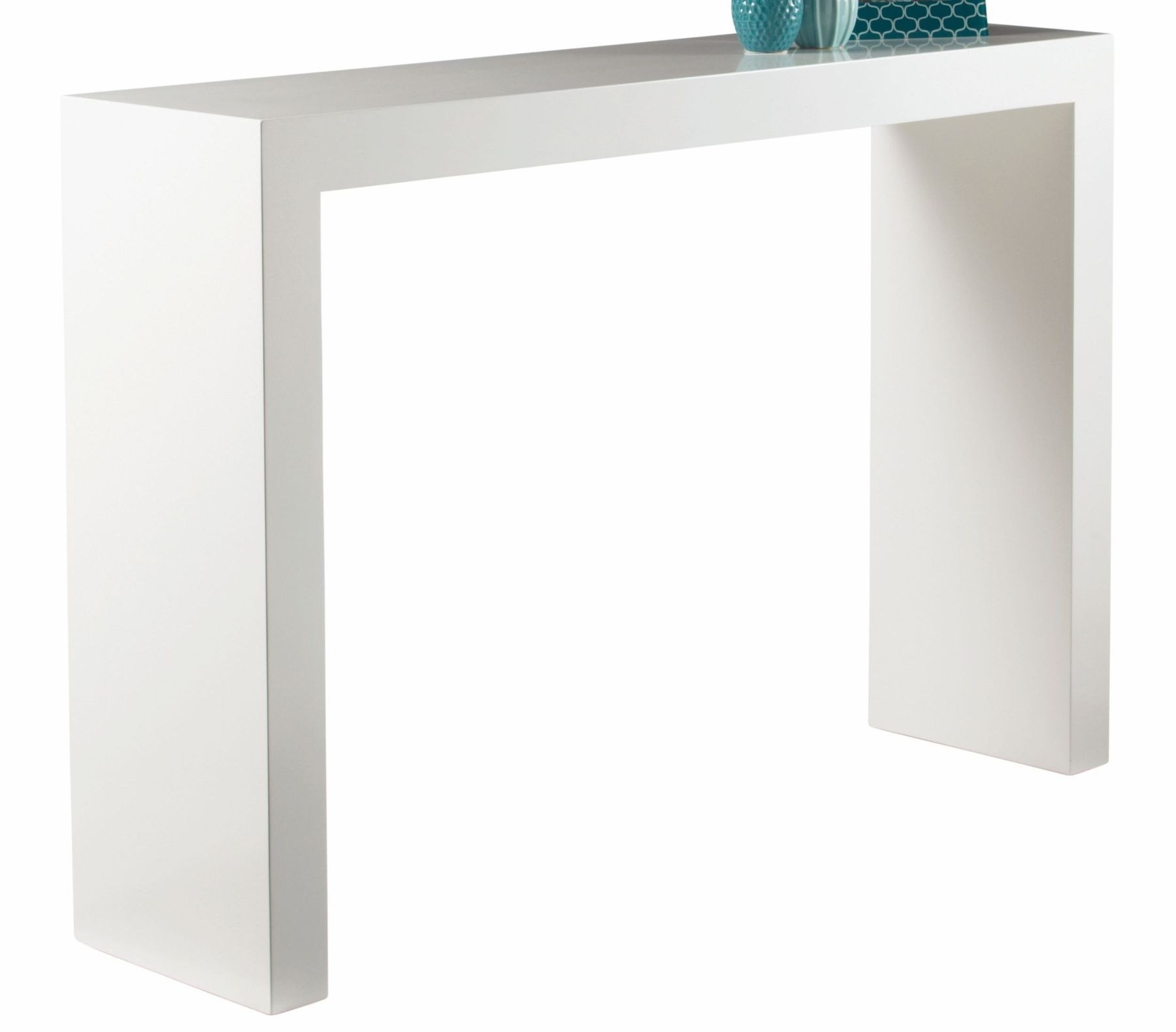 Cozy White Lacquer Console Table With Simply White Console Table Ideas