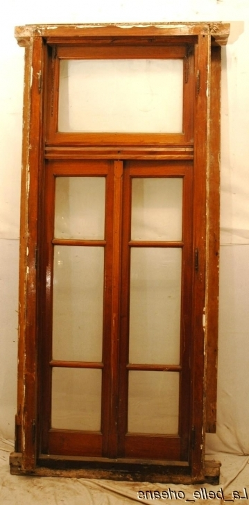 Delightful French Doors With Transom And Original Frame Photos