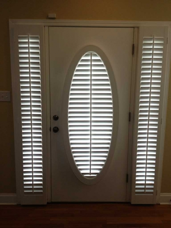 Delightful Sidelight Blinds Plantation Shutters Fauxwood Off White Entry Door  Photos