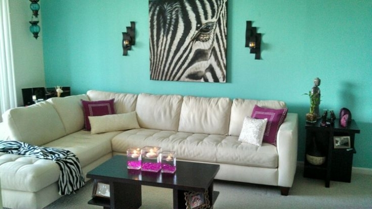Delightful Tiffany Blue Paint Color Throughout Living Room Accent Wall Paint Colors Image