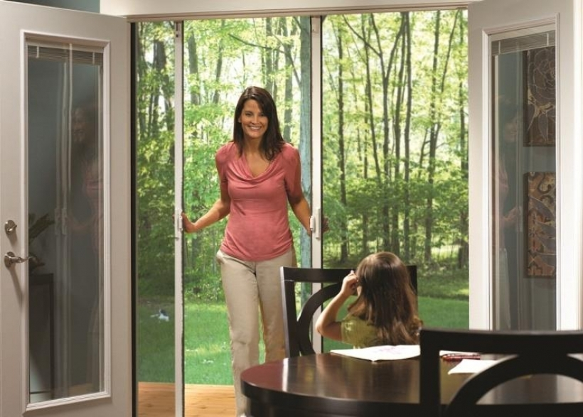 Excellent Sliding French Doors With Screen Wood Ultimate Images