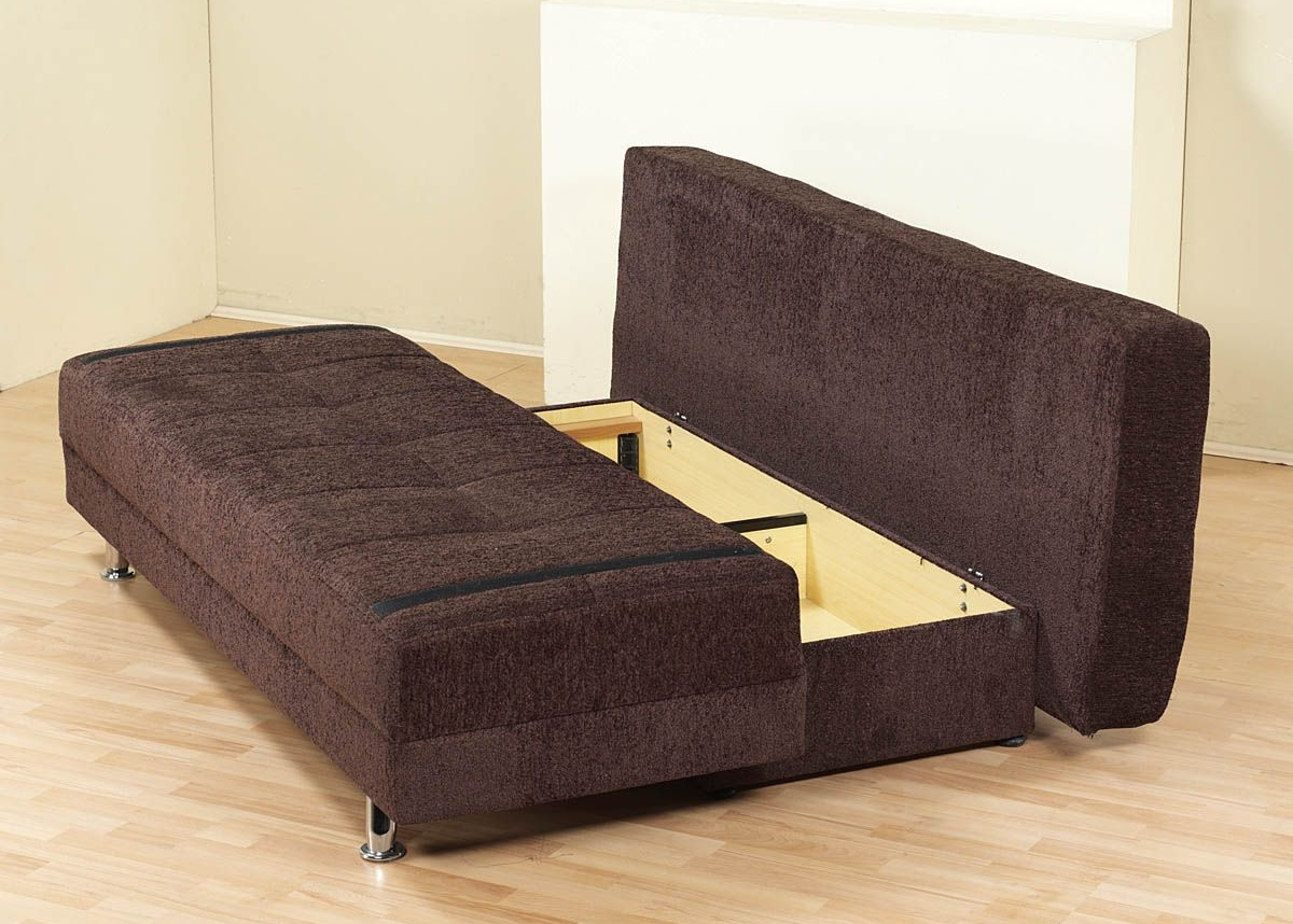 Gorgeous Sofa Sleeper With Storage With Regard To Fabric Storage Sleeper Sofa Bed Futon Couch Dorm Furniture