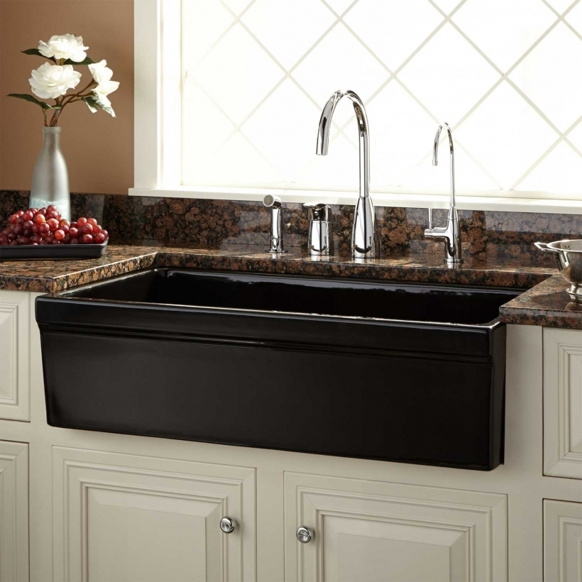 Great Drop In Farmhouse Kitchen Sinks Black Images