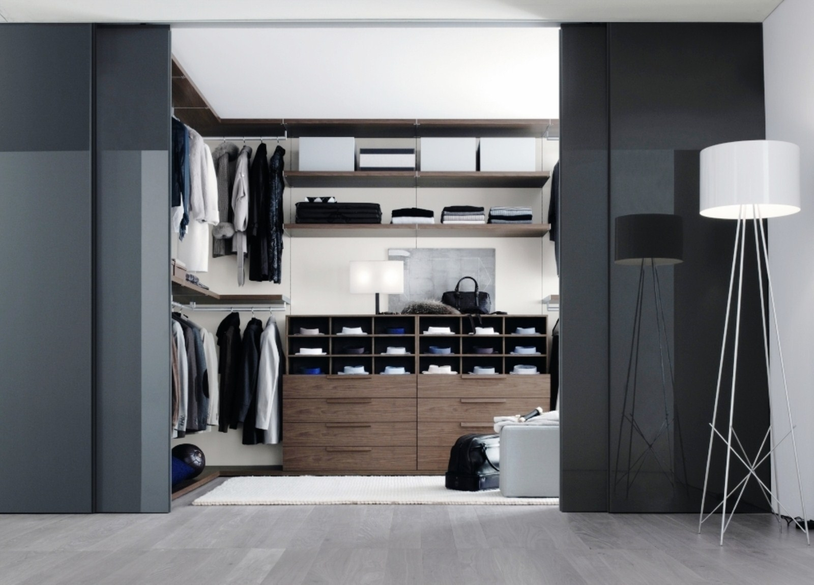 Great Interior Great Home Interior Decoration With Black And White Color With Regard To Black Closet Door