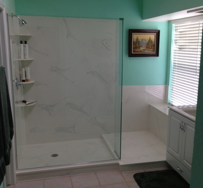 Lovely Cultured Marble Showers Versus Tile Pic