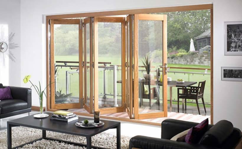 Outstanding Folding Sliding French Doors Great Combination Of Design And Style Pictures